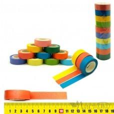 Клейкая лента декоративная Color бумага, 1,5см*10м, цена за 1шт, асс 7430