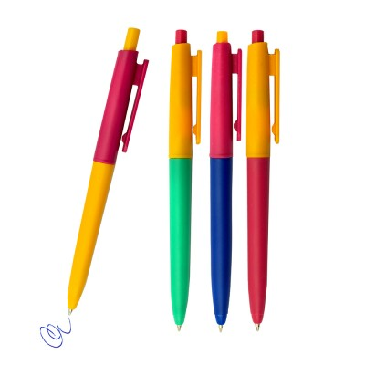 Ручка автомат, 0,7мм, пластик, цв.асс 7880 J.Otten