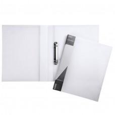 Папка на 2-х кольцах 25мм А4 DIAMOND полупрозр. белая, 2AB4_02031 / Hatber /1 /0 /20 /0