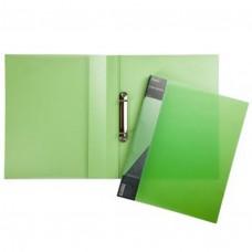Папка на 2-х кольцах 25мм А4 DIAMOND полупрозр. зеленая 2AB4_02007 Hatber