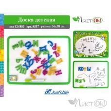 Доска детская 8537 Магнитно-маркерная+маркер+буквы,36х38см  /1 /0 /60