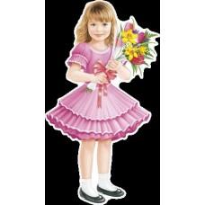 Плакат вырубка Девочка с цветами//29,348,00/ Империя поздравлений