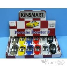 Игрушка KT5302D Кинсмарт Porsche Boxster S мет., инерц. модель машины 1:32 в дисплее 12 шт. Kinsmart /0 /0 /72 /0