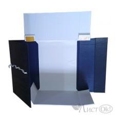 Короб архив. А4/150 бум/винил. завязки, разборный, черный К4108 Профит