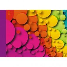 Альбом для рис. 30л. склейка,110г/м2, Цветное настроение (графика)  АЛ301569 Эксмо