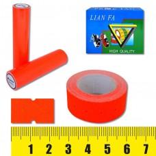 Ценник-лента 5222-3 , 12х22мм, 500шт, красная флюо J.O. /10 /100 /1000