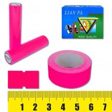 Ценник-лента 5222-4 , 12х22мм, 500шт, розовая флюо J.O. /10 /100 /1000