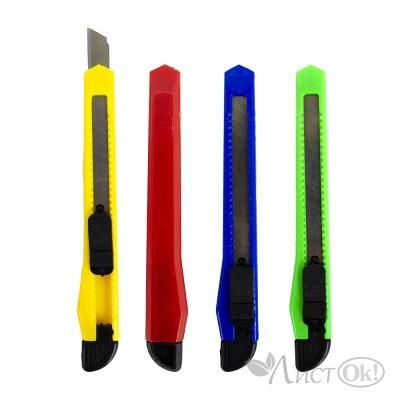 Нож 804(87) канцеляр.малый, ЭКО, 9мм,фиксатор,цв.асс J.Otten /24 /0 /1440 /0