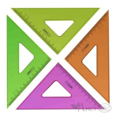 Треугольник 45°х12см цвет.,проз. пластик ТК44 Стамм