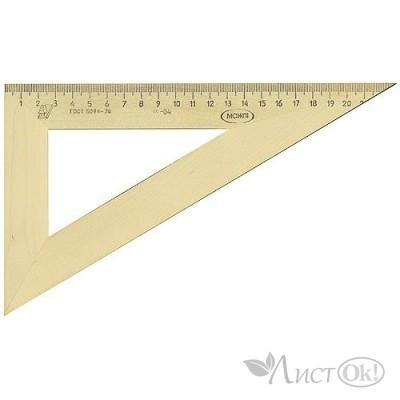 Треугольник деревянный 30*230, с 137, /Красная Звезда /50 /0 /350 /0