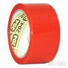 Клейкая лента 48*66 красный 43мкм 0120-436Х Нова Ролл