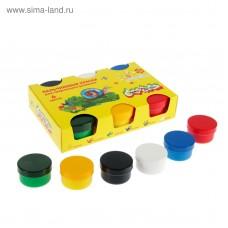 Краски пальчиковые  6цв. 60 мл 1+ ПКМКМ06 Каляка-Маляка