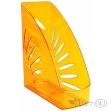 Лоток для бумаг вертикальный 110мм Тропик Мангно оранжевый ЛТ360 Стамм