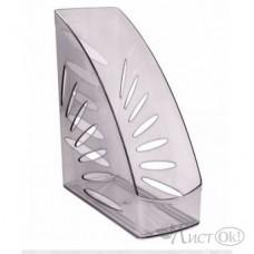 Лоток для бумаг вертикальный 110мм Тропик тонированный серый ЛТ353 Стамм