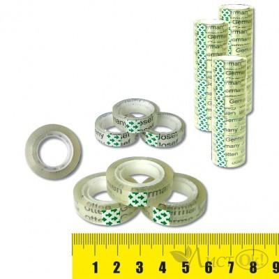 Клейкая лента упаковочная 1.2СМх30М, прозрачная, пвх J.Otten