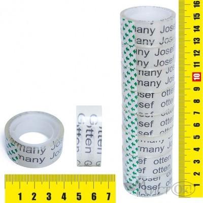 Клейкая лента упаковочная 1.9СМх15М, прозрачная, пвх J.Otten