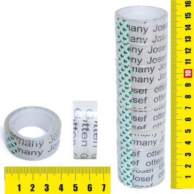 Клейкая лента упаковочная /J.Otten/ 19мм*15м прозрачная J.Otten /8 /0 /800