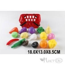 Набор Фрукты, Овощи в корзине в сетке 598E24-1 Поварёнок