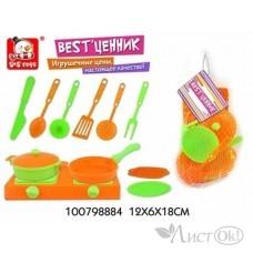 Игрушка 100798884 набор посуда с плитой в сетке BEST'ЦЕННИК S+S /0 /0 /360 /0