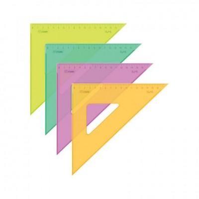 Треугольник 45°х16см прозр. пластик. ТК57 Стамм