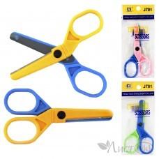 Ножницы детские 10см, безопасные лезвия, ассорти 0262 J.Otten