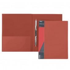 Папка с пружинным скоросш. А4ф 17мм STANDARD 700мкм, красная AH4_00115 Hatber