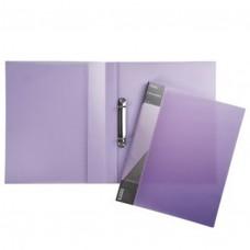 Папка на 2-х кольцах 25мм А4 DIAMOND полупрозр. фиолетовая 2AB4_02021 Hatber