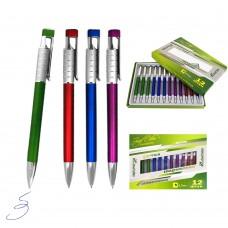 Ручка подарочная , металл, 0,7мм, авт, цв.асс 2308-WZ J.Otten Premium