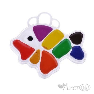 Краска акварельная 9цв. Рыбка б/к, 12с  828-08 Луч