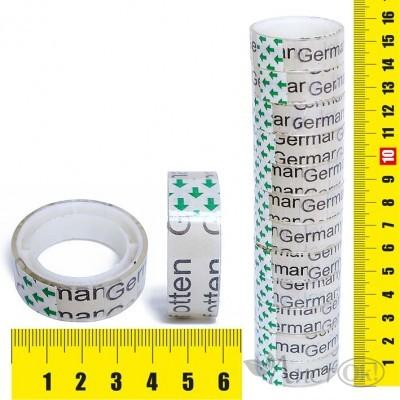 Клейкая лента упаковочная 1.2СМх6М, прозрачная, пвх J.Otten