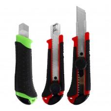 Нож канцелярский большой, 18мм, винтовой фиксатор, направл. 9923 J.Otten