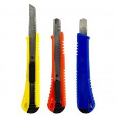 Нож 9955 канцеляр.малый, 9 мм,направ,фиксатор J.Otten /60 /0 /600 /0