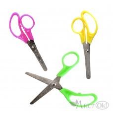 Ножницы 12.5см, эргоном.ручки, закруглённые безопасные лезвия, ассорти 4545