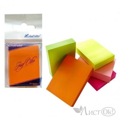 Бумага самокл. д/зап. , 38*50мм,цв.асс.флюо,100л /J.Otten/ 2003 В05