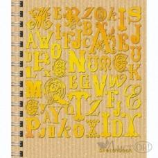 Книга для записей 80 л А6-, 7Б.(Скетчбук) , б/лин. 100г/м2 Коллекция шрифтов СКСФ6804623 Эксмо
