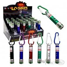 Лазерная указка 8423 указка+фонарик+ф-ция мигания /24 /0 /600 /0