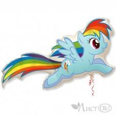 Шарик воздушный фольгированный Пони Радуга / MLP Rainbow Dash (цена за 1шт) И 41