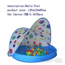 Палатка детская игровая 125*120*80см с шарами 8604B Toys Town
