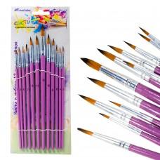 Кисти набор , 12шт, нейлон плоские:№1-12 7451-12 J.Otten