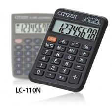 Калькулятор 08-разр. черн.карт. LC-110NR (163393) CITIZEN
