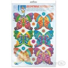 Наклейка *Н-10365 Бабочки цветные, многоразовые в инд.пакете 300*415 Сфера /1 /0 /10 /0