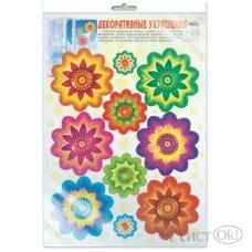 Наклейка *Н-10366 Цветы, многоразовые в инд.пакете 300*415 Сфера /1 /0 /10 /0