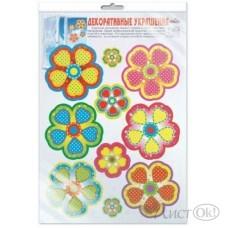Наклейка *Н-10368 Цветы, многоразовые в инд.пакете 300*415 Сфера /1 /0 /10 /0