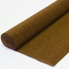 Бумага гофрированная простая 180гр коричневая 568