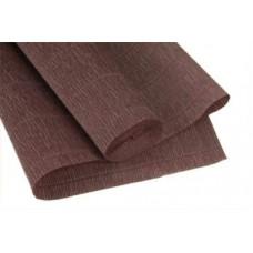 Бумага гофрированная простая 180гр коричнево-серый 614