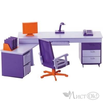 Мебель для кукол Мини офис/упак.6 шт  С-1419 Огонек