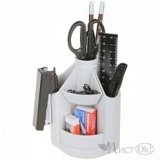 Набор настольный офис вращающийся MINI DESK 12 предметов серый 12516 ERICH KRAUSE