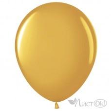 Шарик возд. латекс 12''/30 см Золото металлик/ хром M37-12 Дон Баллон