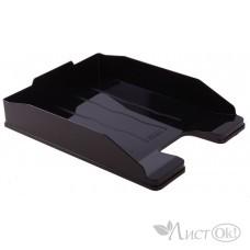 Лоток для бумаг горизонтальный 255мм ЭКСПЕРТ черный ОФ444 Стамм