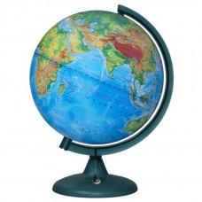 Глобус Физический 250мм Классик с подсветкой от батареек 16017 Глобусный мир